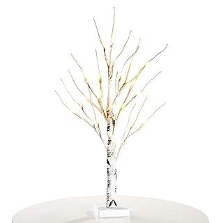 Lichterbaum, Zanflare Blütenbaum weiße Lichterzweige Birkenbaum Weihnachtsbeleuchtung Weihnachtsdeko mit Ästen für Zuhause, Party, Geburtstag, Hochzeit, Innendekoration Weiß