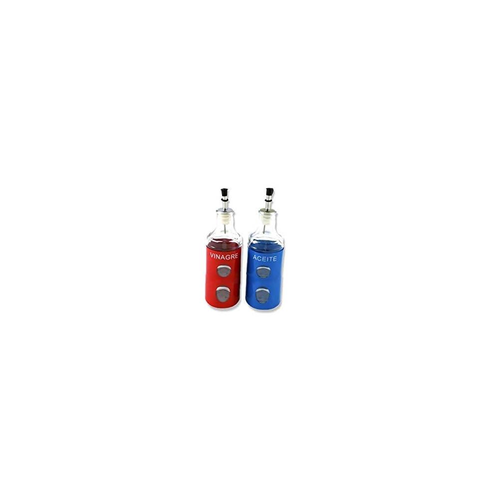 Takestop Set 2 Stck Flasche Flaschen 400 Ml Fr L Essig Mit Spitze In Kunststoff Spender Lflasche Acetoliera