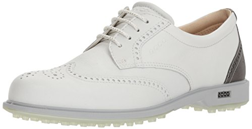 Ecco Womens Tour Hybrid, Chaussures de Golf Femme, Blanc (White/Silver Metallic 53357), 40 EU