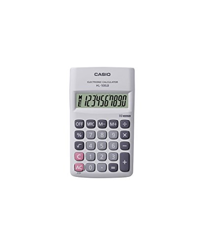 Casio HL100LB Portable Calculator (Grey)