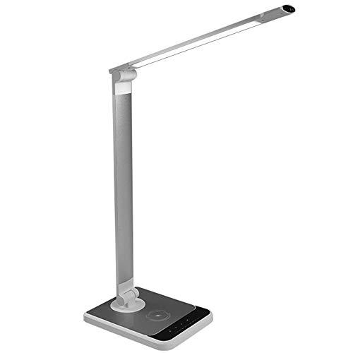Rz lampada da scrivania 12w dimmerabile, lampada da tavolo di touch control con mini luce notturna e 3 modalità, lampada comodino timer e una porta di uscita usb