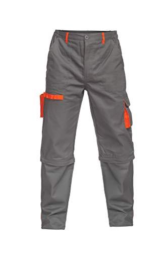 DINOZAVR Sigma Pantaloni da Lavoro multitasca e Pantaloncini da Lavoro 2 in 1 - Grigio S
