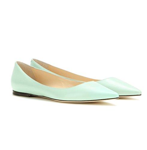 EDEFS Ballerines Femme - Bout Pointu Chaussures - Confort Plat Femmes - Gold Ou Noir Ou Beige Bleu