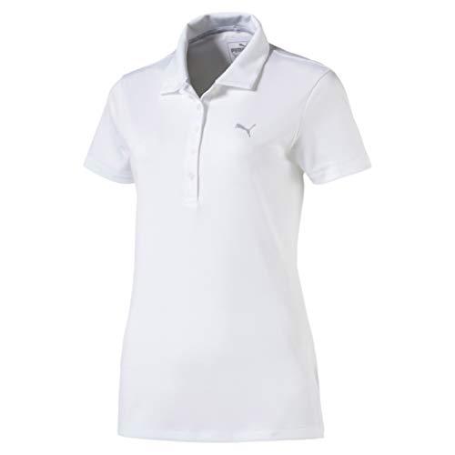 Puma Damen W Pounce Polo 2.0 Shirt, Bright White, M -