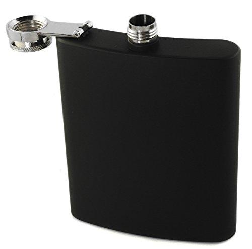 Flachmann schwarz-matt Edelstahl 200ml