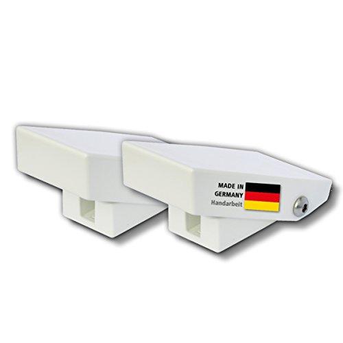 Fenster-Schnapper XL - Doppelpack - genial einfache Zusatzsicherung für Fenster gegen Aufhebeln - Druckwiderstand größer 2 Tonnen