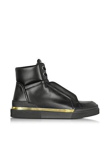 894cad6bb321a9 Balmain Herren W7HA310Z028176 Schwarz Leder Hi Top Sneakers