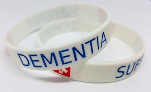 www.wristbandsforyou.com 2x Demenz Leidenden Armband Medical Bewusstsein Alert Armband