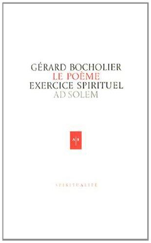 Le poème exercice spirituel