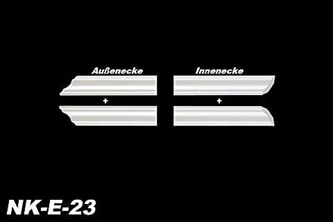 Innenecke Außenecke Innendekor Dekor für Stuckleiste Zierleiste E-23, NK-E-23