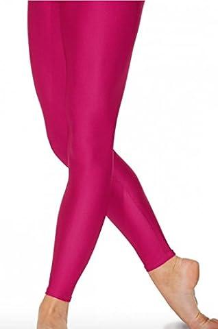 Legging/Collants sans pieds en nylon Lycra 8couleurs Rose cerise 6-8 ans