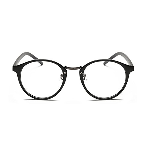 Aiweijia Männer und Frauen Mode Myopie Brille Retro Kunst Brille Runde Brille -0,5 bis-6,00
