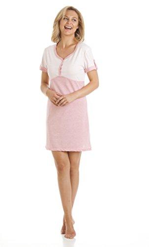La Marquise Damen Nachthemd V-Ausschnitt Polka Dot Design Größen 10bis 22 Gr. Large, Rosa - Pink (Nightshirt Dot Polka)