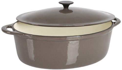 Crealys 513358 - Cocotte ovalada en hierro fundido, 6,5 l