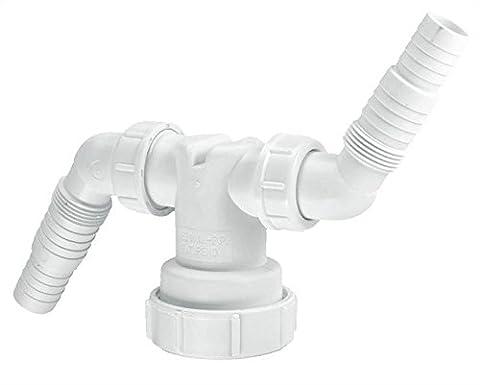 McAlpine V33WM Twin Connector - White