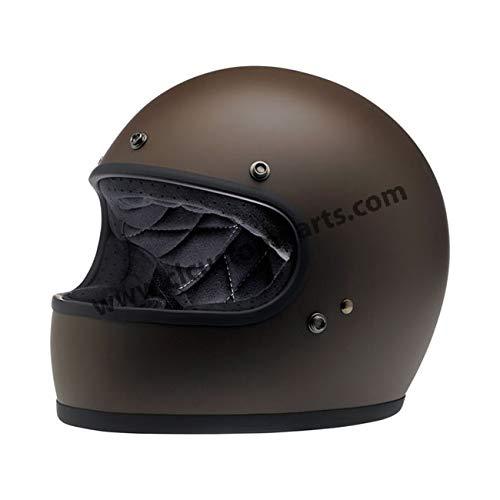Casco Gringo Biltwell Flat Chocolate Marrone Opaco Integrale Helmet Vintage Retrò Anni 70 Custom Chopper Bobber L