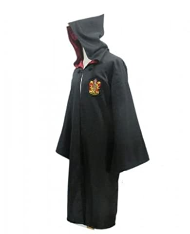 Harry Potter Kostüm Jünger Erwachsene Gryffindor Slytherin Ravenclaw Hufflepuff Adult Child Unisex Schule lange Umhang Mantel Robe--Gryffindor,S for (Harry Potter Umhang)