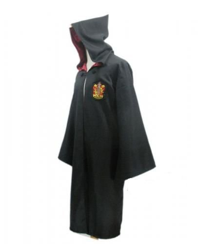 Harry Potter Kostüm Jünger Erwachsene Gryffindor Slytherin Ravenclaw Hufflepuff Adult Child Unisex Schule lange Umhang Mantel Robe--Gryffindor,S for adult