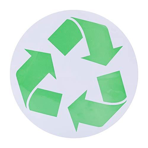 4h6yerf Ingenious Großes Recycling-Symbol Aufkleber für grün, weiß, blau, Recycling Mülleimer & Behälter für Recycling, Papier, Karton, Müll, Glas, Flaschen, Aluminiumdosen und Zeitungsrecycling a