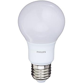 Philips Bombilla LED estándar E27, 8 W, pack 2 unidades, luz blanca cálida