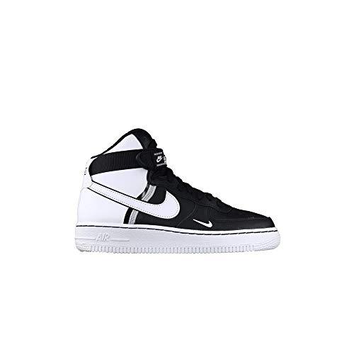 Nike Air Force 1 High Lv8 2 (GS) Black White Wolf Grey White