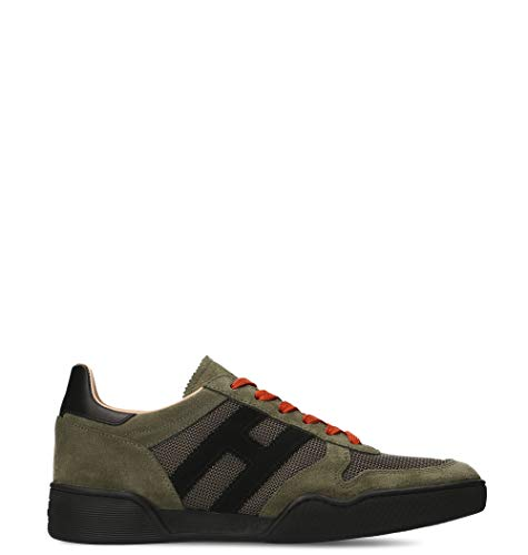 Hogan Sneakers Uomo Hxm3570ac40ipj558l Camoscio Verde