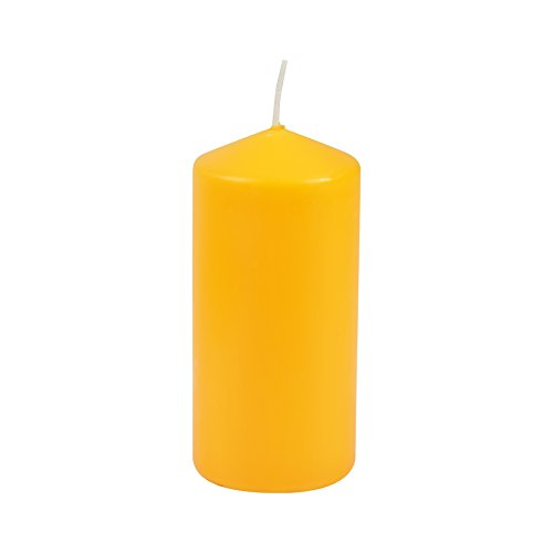 HOMEA 6bpc001ti Vela perfumada cilíndrica parafina Amarillo 6,5x 6,5x 14cm