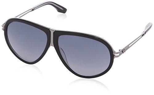 Hogan - occhiali da sole ho0036 wayfarer, 05b black / crystal