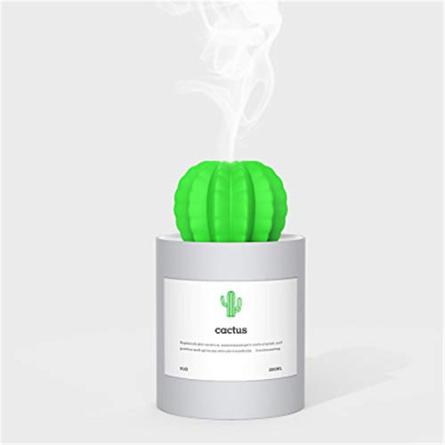 MXQH Humidificador, Mini humidificadores 280ml con luz de Noche Prickly Pera USB...