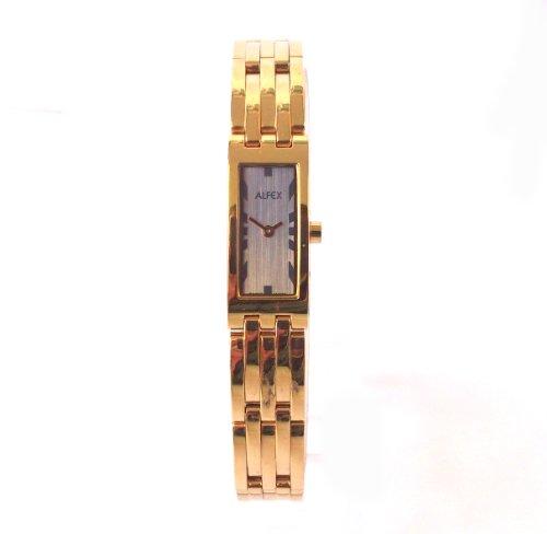 ALFEX OF SWITZERLAND 5453 - Reloj para mujeres, correa de acero inoxidable color dorado