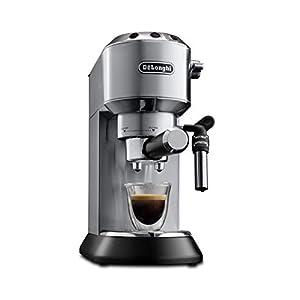 De'Longhi Dedica EC 685.M Espresso Siebträgermaschine   15 bar    Professionelle Milchschaum Düse  Füllmenge 1 l   Vollmetallgehäuse   Auch für Pads geeignet   Silber