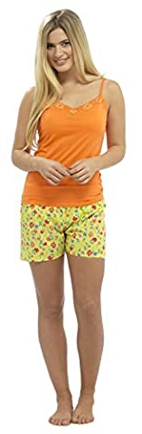 Ladies Jersey Top & Printed Shorts Summer Pyjama pajama Sleepwear