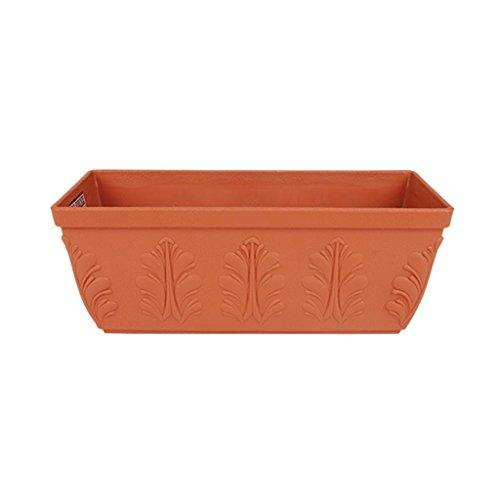 DELLT- Grandes Pots rectangulaires Personnalisés convexes fleurs en plastique Pots Balcon légumes ( taille : 420 )