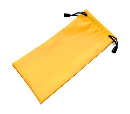 smartec24® Universal Handy / Smartphone Zugverschluss Beutel in gelb. Hochwertige Verarbeitung aus wasserabweisendem Stoff inkl. Zugverschluss für optimalen Schutz vor Herausfallen. Geeignet für alle Smartphones (auch mit Case) bis zu maximal Höhe16cm x Länge 9cm x Breite 2cm