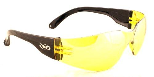 Splitterfrei UV400 Motorrad schwachem Licht / Nacht Winter / Sonnenbrille mit kostenfreiem Mikrofaser Aufbewahrungstasche.