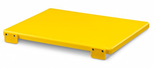 Ausonia - Tagliere polietilene da macellaio giallo 40x30x2