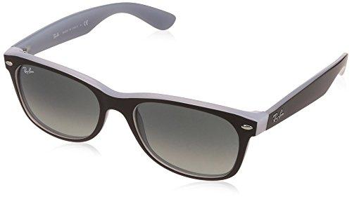 RAYBAN JUNIOR Unisex-Erwachsene Sonnenbrille New Wayfarer Matte Black One Opal Ice/Greygradientdarkgrey, 58