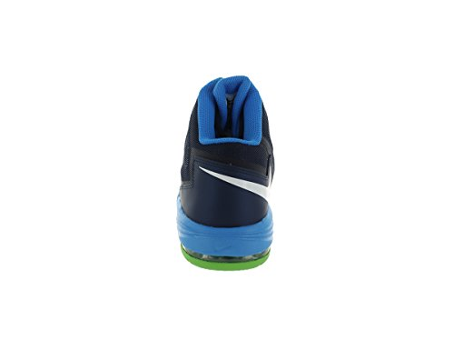 Mens Air Max Uptempo Fuse 360 â??â??Basketball-Schuhe 555006 Mid Nvy/White/Pht Bl/Elctrc Gr