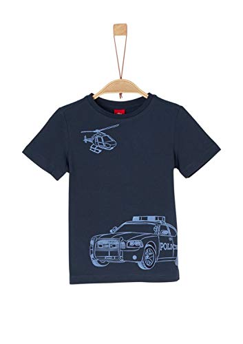 s.Oliver Junior Jungen 74.899.32.0522 T-Shirt, Blau (Blue 5958), 116 (Herstellergröße: 116/122)