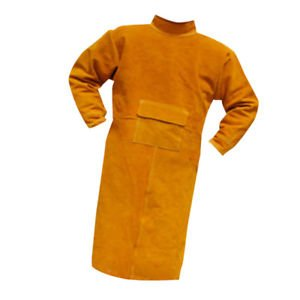ELECTROPRIME Welding Coat Protective Apron Welding Suit Safe Heat Insulation 120cm Orange