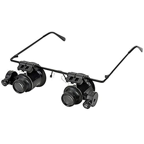 Brillen Lupenlinse Juwelier Uhrmacher Lupe 20X Vergrößerung LED Lupen Uhrmacher Werkzeug Set