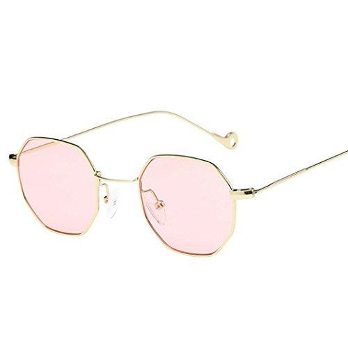OverDose OverDose Unisex Sommer Frauen Männer Moderne Modische Spiegel Polarisierte Katzenauge Metallrahmen Sonnenbrille Brille Damensonnenbrille Herrensonnenbrille (A)