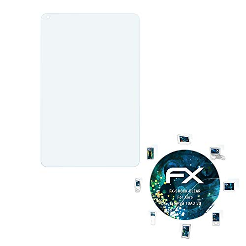 atFolix Schutzfolie kompatibel mit Xoro TelePad 10A3 3G Panzerfolie, ultraklare & stoßdämpfende FX Folie (2X)