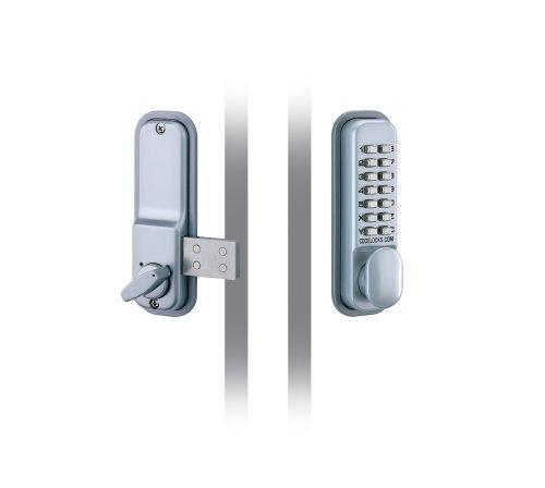 Codelocks - Serratura elettronica con chiavistello a mandata, apertura dall'esterno con codice programmabile e dall'interno con pomello
