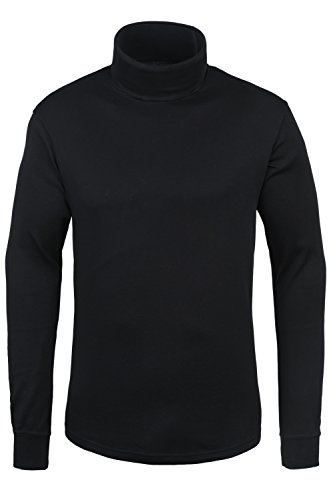 Mountain Warehouse Meribel Herren Baselayer mit Rollkragen, Pullover, Baumwolle Rolli Unterhemd Funktionsunterwäsche Thermounterwäsche Ski Snowboard Schwarz X-Large (Rollkragen-pullover Herren)