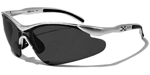 Occhiali da sole x-loop - sport - ciclismo - sci - corsa a piedi - moto - arrampicata / mod. 3529 grigio / un formato adulto / 100% protezione uv-400