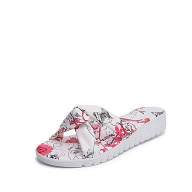 Damen Hausschuhe &Amp; Flip-Flops Fr¨¹hling Sommer Komfort PU Casual Keilabsatz Blume US7.5 / EU38 / UK5.5 / CN38