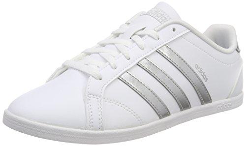 adidas Damen VS Coneo QT Fitnessschuhe, Weiß Plamat/Ftwbla 000, 41 1/3 EU