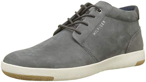 Tommy Hilfiger Herren Light Nubuck LACE UP Boot Hohe Sneaker, Grau (Charcoal 022), 44 EU