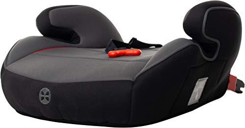 Kindersitzerhöhung mit Isofix und Gurtfix, Gruppe 2/3, (3-12 Jahre), Babyblume BOOST Isofix Gurtfix, Black